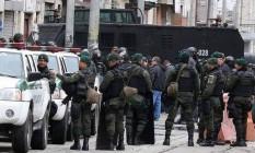 Polícia realiza megaoperação na área conhecida como El Bronx, em Bogotá Foto: El Tiempo, GDA