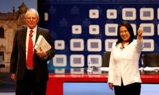 Pedro Pablo Kuczynski e Keiko Fujimori comparecem a último debate presidencial antes das eleições no Peru Foto: MARIANA BAZO / REUTERS