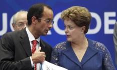 A presidente afastada Dilma Rousseff e Marcelo Odebrecht Foto: Gabriel de Paiva / Agência O Globo