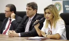 Coletiva sobre estupro de jovem de 16 anos na Zona Oeste do Rio Foto: Gabriel de Paiva / Agência O Globo