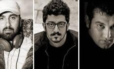 Yousef Emadi, Mehdi Rajabian e Hossein Rajabian Foto: Reprodução