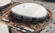 Construção do velódromo dos Jogos Rio-2016, no Parque Olímpico Foto: Gabriel Heusi / Brasil2016/Divulgação
