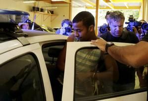 Raí de Souza, suspeito de participação em estupro coletivo, está preso preventivamente Foto: Marcelo Carnaval / Agência O Globo