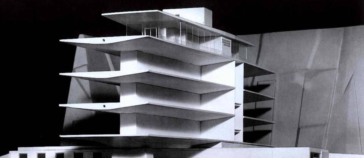Maquete do antigo prédio do Consulado da Alemanha em Laranjeiras Foto: Reprodução