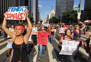 Com menos de 20 dias de governo, Temer vêm enfrentando protestos seguidos contra seu governo Foto: Roberto Parizotti/CUT