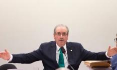 O presidente afastado da Câmara dos Deputados Eduardo Cunha Foto: André Coelho / Agência O Globo