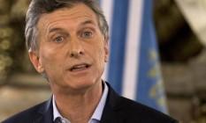 Macri: dinheiro de volta à Argentina Foto: Natacha Pisarenko / AP/7-4-2016
