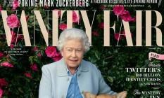 Rainha Elizabeth II posa ao lado de seus cachorros para as lentes da fotógrafa Annie Leibovitz, na capa da revista Vanity Fair Foto: Reprodução/Instagram/VanityFair