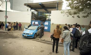 Estudantes ocupam novamente a secretaria estadual de Educação, no Santo Cristo Foto: Márcia Foletto / Agência O Globo