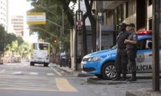 Seguraça. Avenida Rio Branco terá o patrulhamento reforçado. Foto: Marcia Foletto
