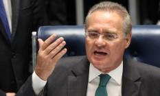 O presidente do Senado, Renan Calheiros Foto: Jorge William / Agência O Globo
