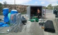 Acidente com caminhão que transportava equipamentos usados no revezamento da tocha olímpica não vai atrapalhar programação, diz Comitê Rio-2016 Foto: Divulgação Polícia Rodoviária Federal