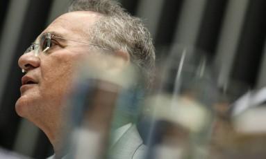 Renan Calheiros, presidente do Senado Foto: André Coelho / Agência O Globo