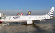 Avião da Aegean Airlines em Atenas Foto: Wikimedia Commons