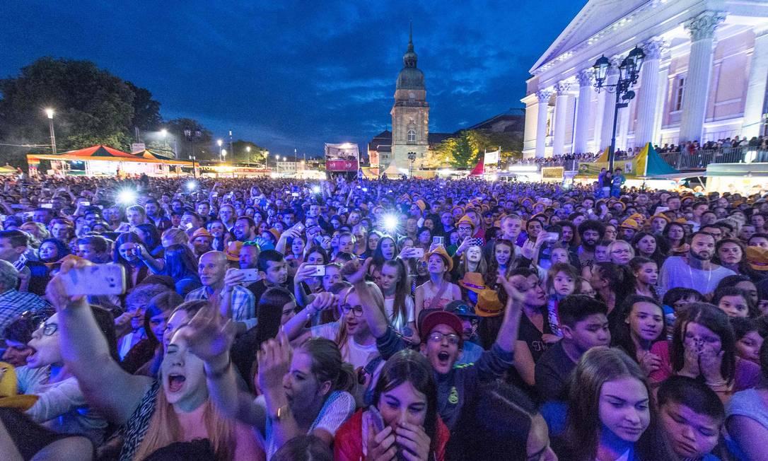 Foto tirada em 26 de maio desre ano no festival de música em Darmstadt Foto: / BORIS ROESSLER /AFP