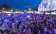Foto tirada em 26 de maio desre ano no festival de música em Darmstadt