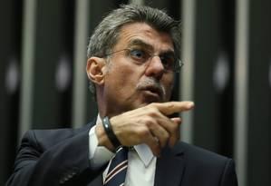 O senador Romero Jucá (PMDB-RR) Foto: André Coelho / Agência O Globo / 24-5-2016
