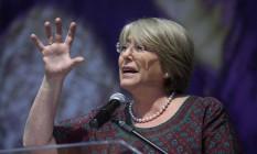 Rejeição da presidente chilena, Michelle Bachelet, atingiu 72% Foto: Gustavo Miranda / Agência O Globo