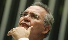O presidente do Senado, Renan Calheiros (PMDB-AL) Foto: André Coelho / Agência O Globo / 24-5-2016
