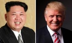 O líder norte-coreano, Kim Jong-un, e o candidato republicano à Presidência americana, Donald Trump Foto: Reuters