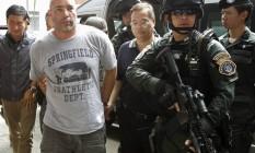 """Joseph """"Rambo"""" Hunter ao ser detido em Bangcoc, na Tailândia Foto: CHAIWAT SUBPRASOM / REUTERS"""