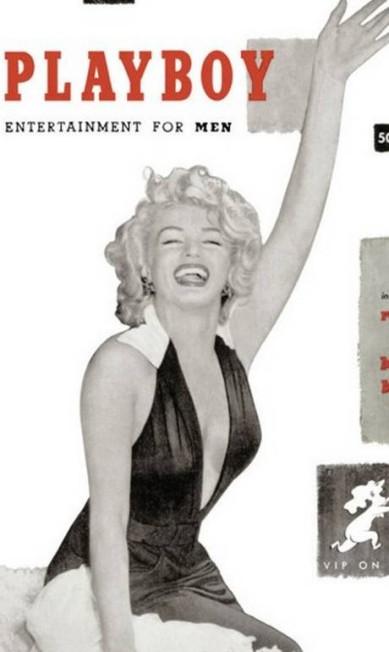 """Um dos trabalhos para o mercado editorial mais lembrados da carreira da atriz foi a capa para a primeira edição da revista """"Playboy"""", em 1953 Reprodução"""