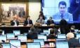 Sessão do Conselho de Ética para a leitura do voto do parecer do relator do processo de cassação contra Eduardo Cunha