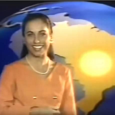 A apresentadora do 'É de casa' em vídeo de 1993 Foto: Reprodução