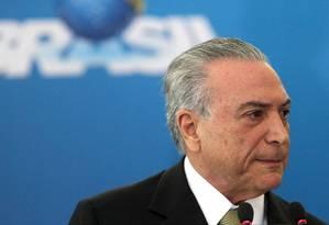 O presidente em exercício, Michel Temer Foto: Givaldo Barbosa / Agência O Globo