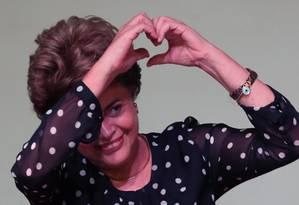 Saída honrosa. Dilma foi convencida por aliados de que não chegaria ao fim do mandato; plebiscito seria solução Foto: Jorge William / Agência O Globo / 30-5-2016