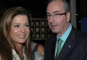Cláudia Cruz, ao lado do marido, Eduardo Cunha Foto: Divulgação