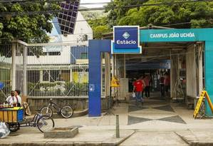 Estácio campus João Uchôa, no Rio Comprido, no Rio Foto: Guilherme Leporace / Agência O Globo /