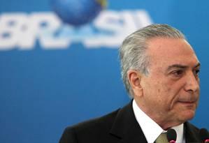 O presidente interino, Michel Temer Foto: Givaldo Barbosa / Agência O Globo
