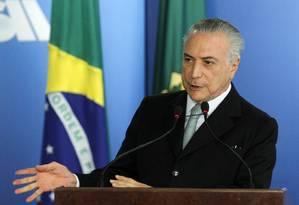 O presidente interino Michel Temer Foto: Givaldo Barbosa 02/06/2016 / Agência O Globo
