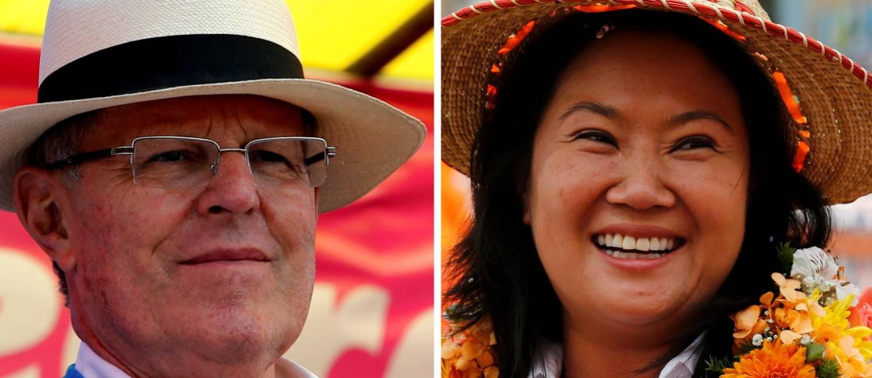 Pedro Pablo Kuczynski e Keiko Fujimori: eleição acontece no domingo Foto: MARIANA BAZO / REUTERS
