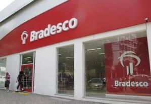 Agência do Bradesco na Tijuca Foto: Lara Mizoguchi / Agência O Globo