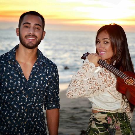A banda niteroiense Melim, formada por três irmãos, é atração do programa Superstar, da TV Globo. Foto: divulgação/Alline Ourique