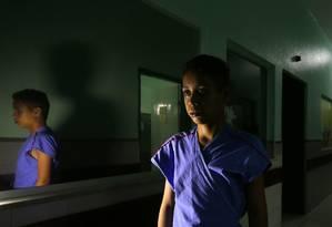 Esperança. Afonso Rerison Aguiar de Souza, de 14 anos, pela segunda vez na fila do transplante no Hospital de Messejana, em Fortaleza Foto: Michel Filho / Agência O Globo / 26-5-2016