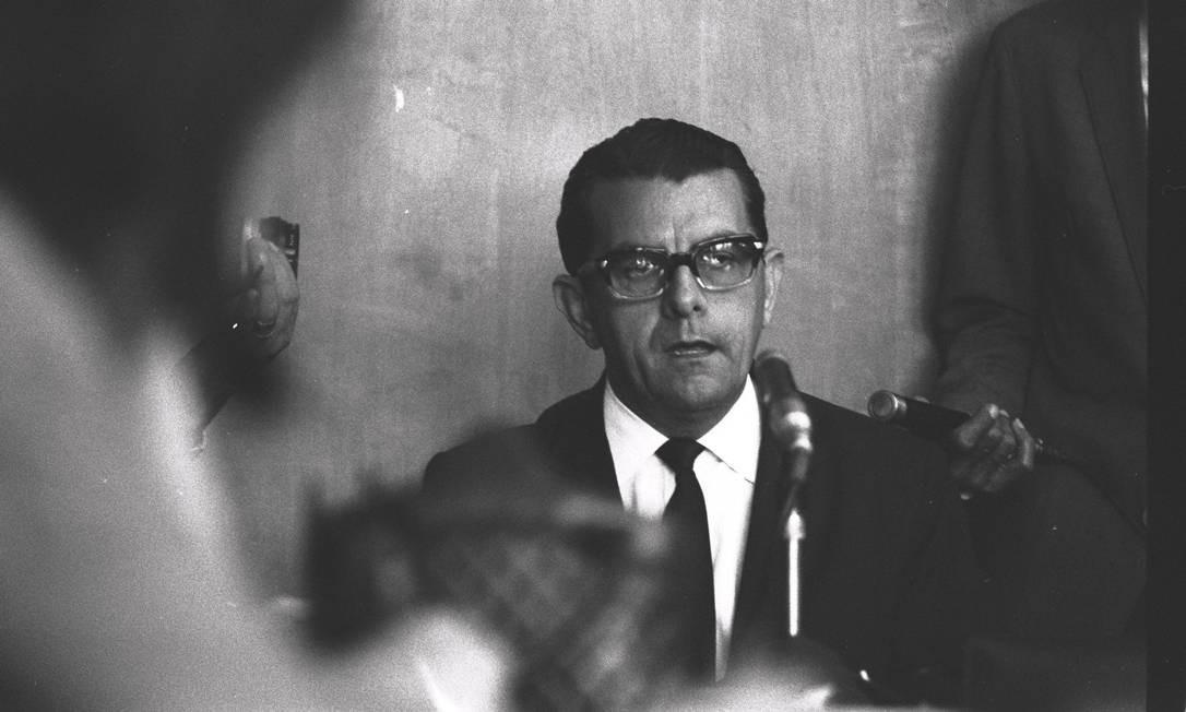 Jarbas Passarinho nasceu no dia 11 de janeiro de 1920 em Xapuri, no Acre, mas iniciou sua trajetória política no Pará Foto: AGÊNCIA O GLOBO