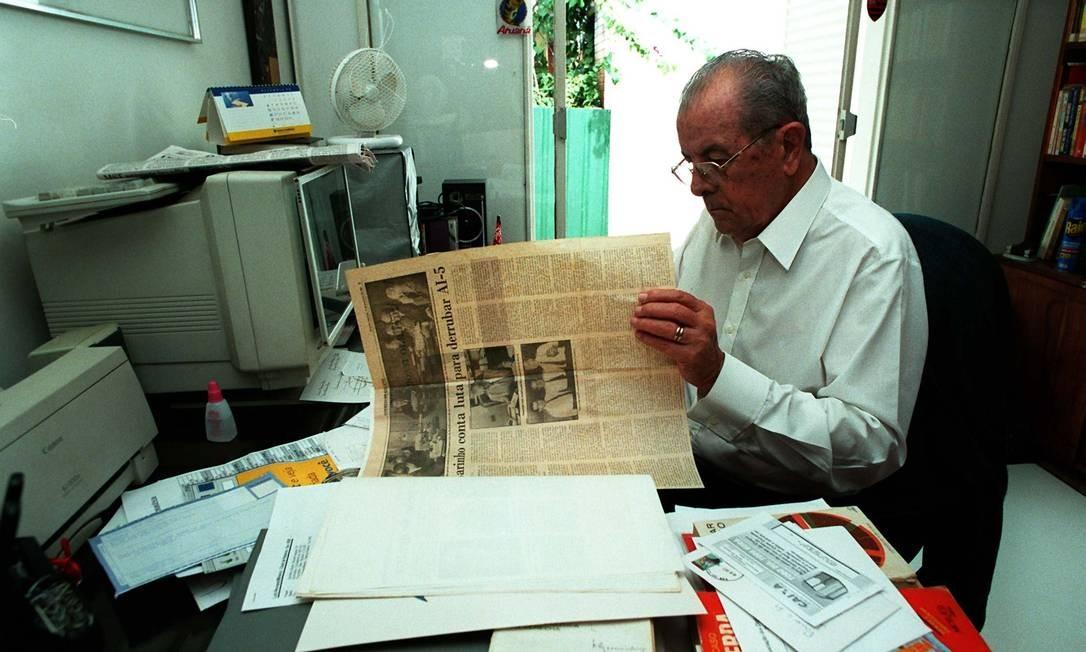 Ele governou o estado de 1964 a 1966. Foi ministro nos governos militares Foto: Sergio Marques / Agência O Globo