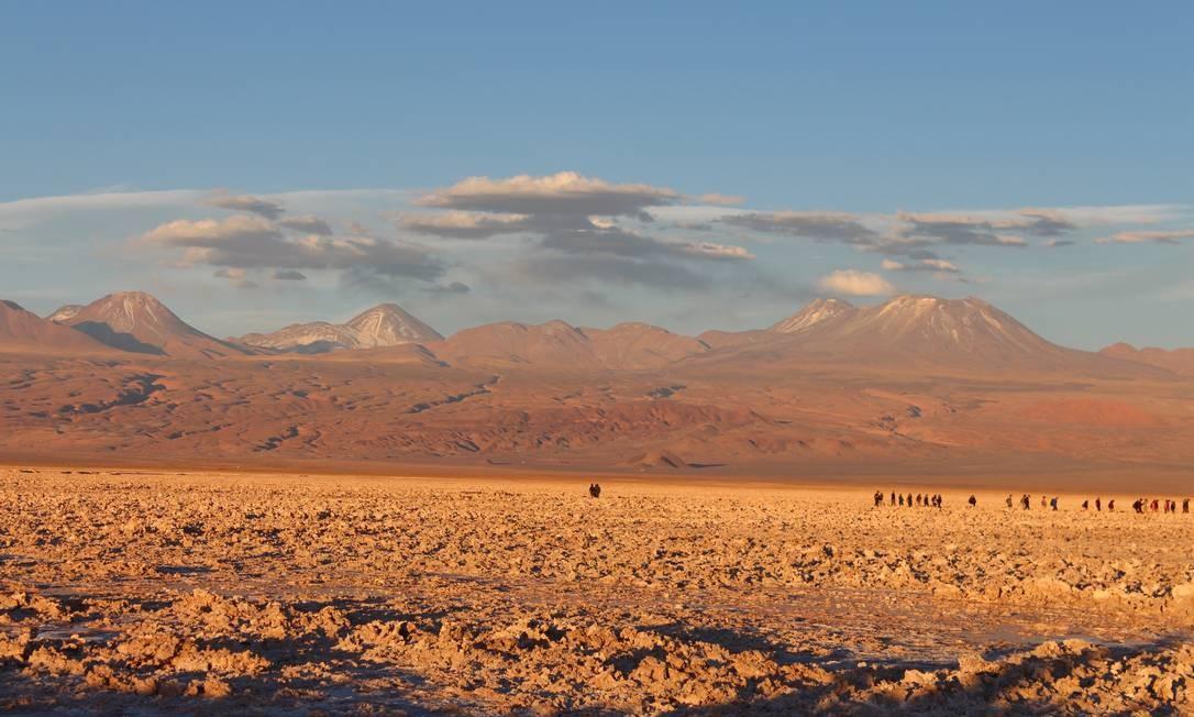 Salar do Atacama, no Chile Foto: Fábio Vasconcellos