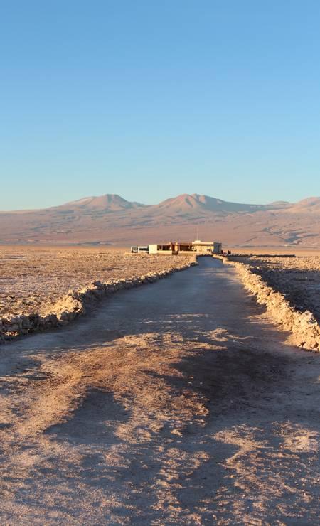 Estrada no Salar de Atacama Foto: Fabio Vasconcellos