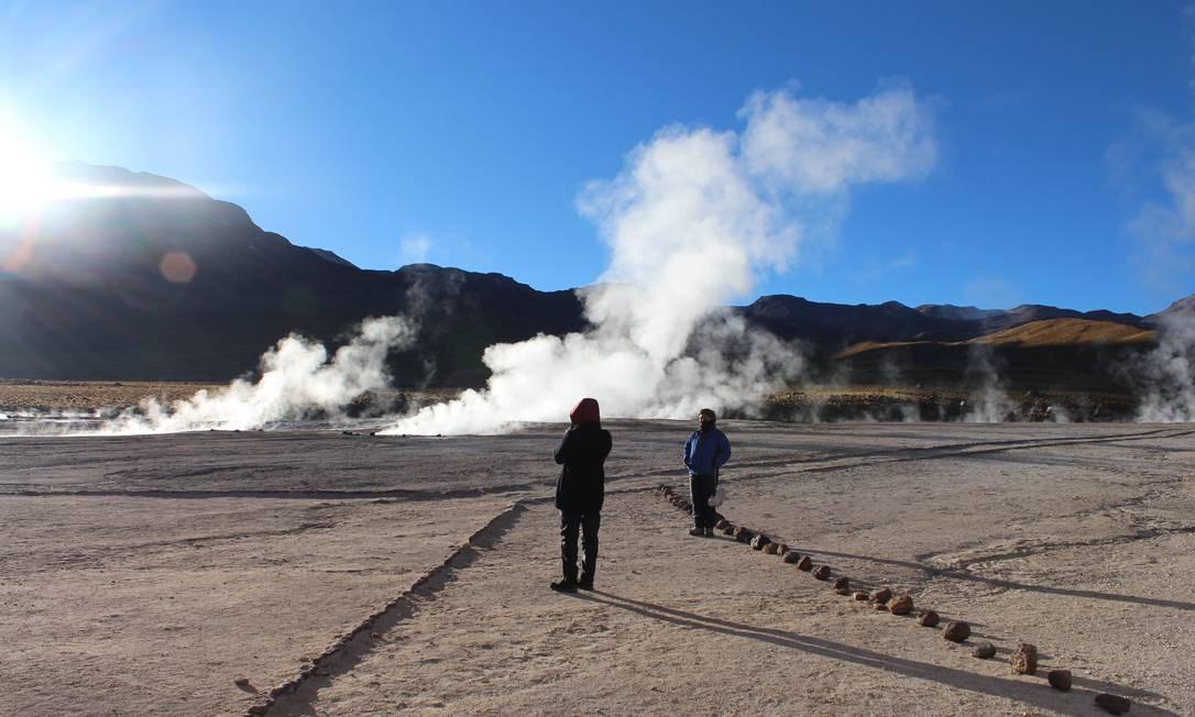 Passeio no Gêiser de El Tatio, no deserto do Atacama Foto: Fábio Vasconcellos