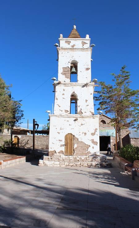 A torre do sino, no município de Toconao Foto: Fábio Vasconcellos
