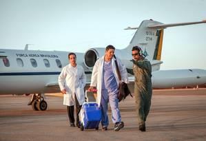 Avião da FAB transportou coração de Jaraguá do Sul (SC) a Brasília, em de agosto de 2015 Foto: Andre Feitosa / Força Aérea Brasileira / Divulgação