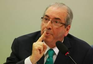O presidente da Câmara afastado, Eduardo Cunha (PMDB-RJ) Foto: Michel Filho / Agência O Globo / 18-5-2016