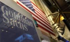 Foto de 2011 mostra o letreiro do Goldman Sachs na Bolsa de Valores de Nova York Foto: BRENDAN MCDERMID / REUTERS
