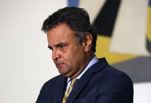 O presidente nacional do PSDB, senador Aécio Neves (MG) Foto: Edilson Dantas / Agência O Globo / 28-4-2016