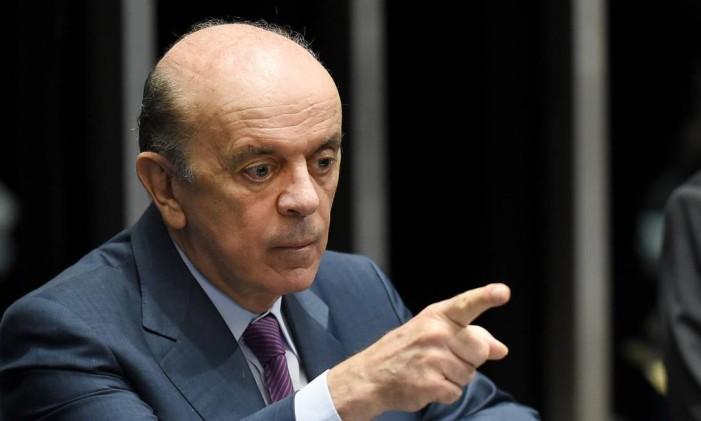 O ministro José Serra (PSDB-SP) Foto: Evaristo Sá / AFP / 25-4-2016