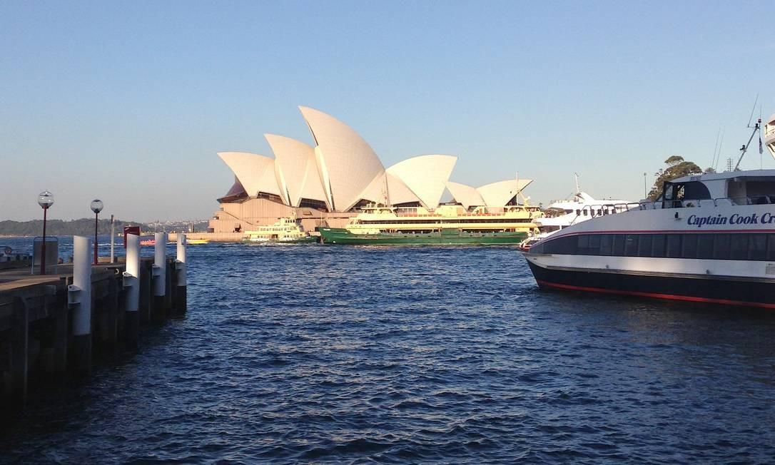 A Opera House, símbolo de Sydney, da Austrália e da Oceania Foto: Léa Cristina